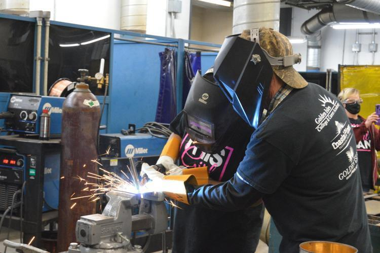 """The first """"This Girl Can"""" workshop hosted in 2021 at the Golden Isles College and Career Academy introduced eighth- and ninth-grade girls to careers in manufacturing and offered hands-on experience working in the school's labs."""