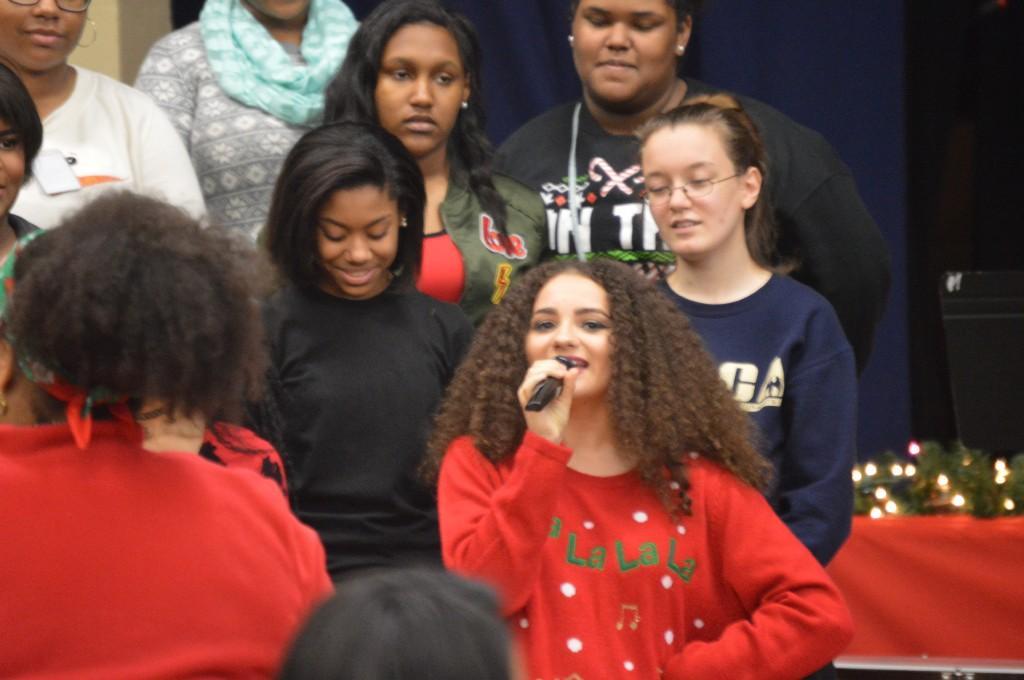MACA Chorus Students presenting during the Holiday Arts Gala