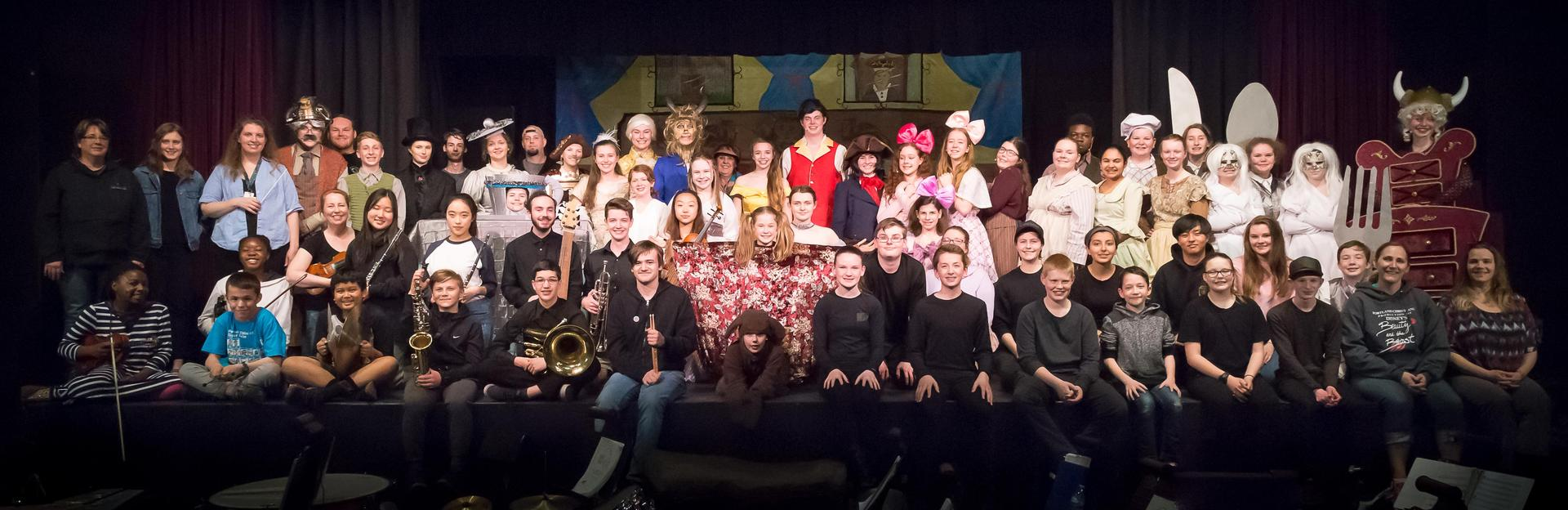 Cast and Crew for spring musical 2019 Beauty and the Beast