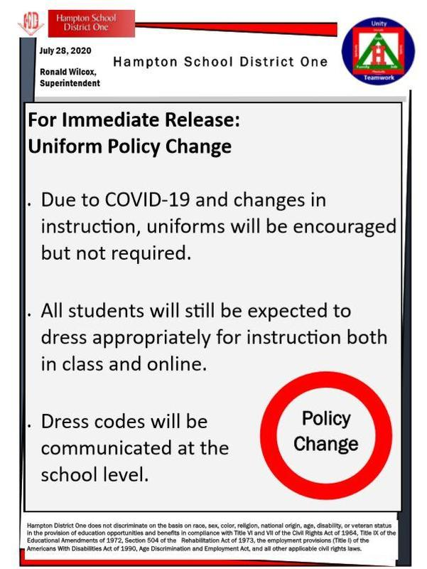 Uniform Policy Change