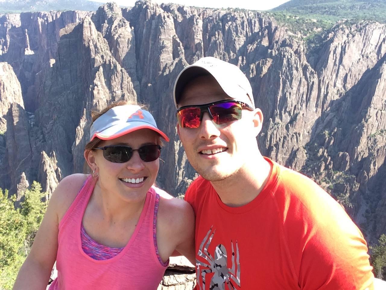 Hiking along Bryce Canyon in Colorado!