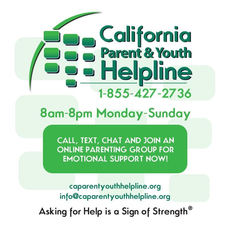 parent and youth hotline flyer