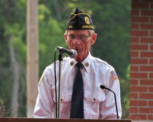 Capt. Rich Jenkins addressed the guests at the 9-11 ceremony reminding them to