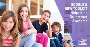 four kids smiling