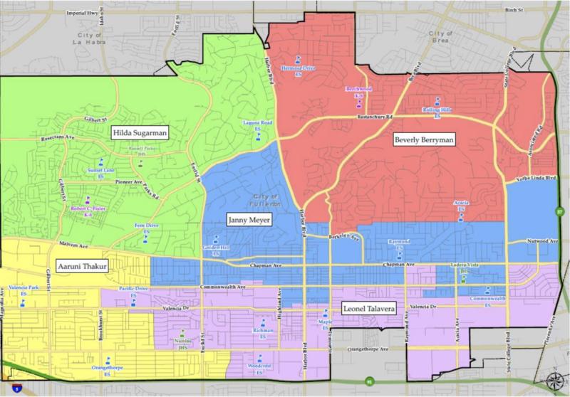 Trustee Areas Map