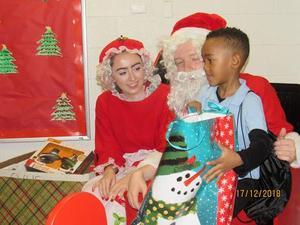 students and santa