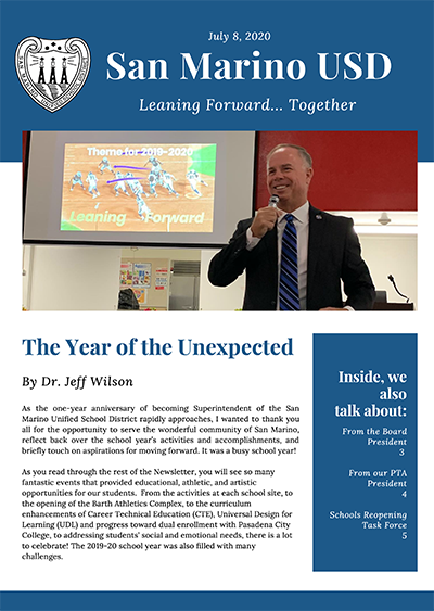 Summer 2020 Newsletter
