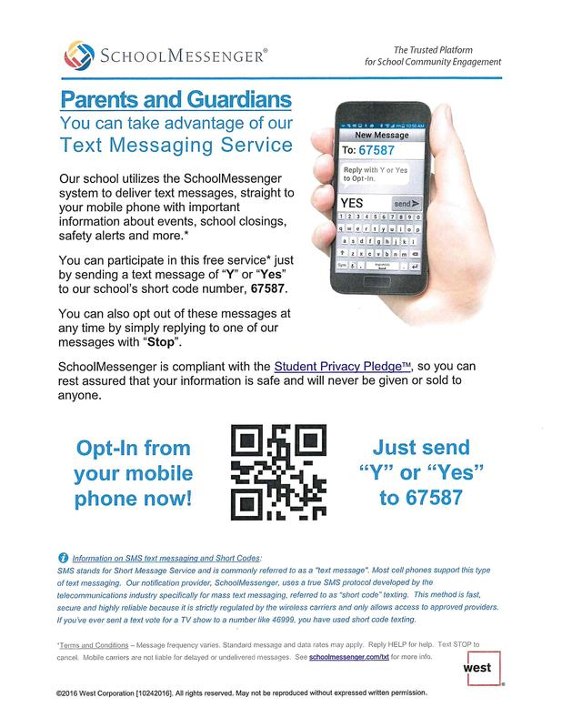 flyer how to opt in for text alert