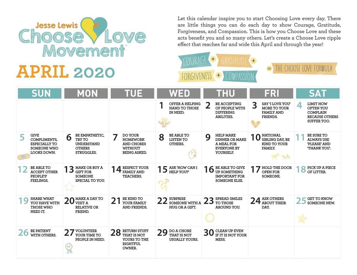 Choose Love April 2020