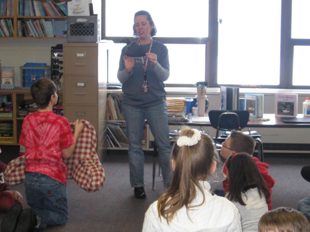 teacher talks to class