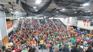 The TKHS gymansium was filled with teams, coaches, and guests waiting for awards.