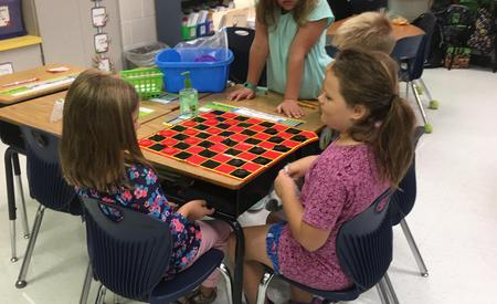 playing checkers