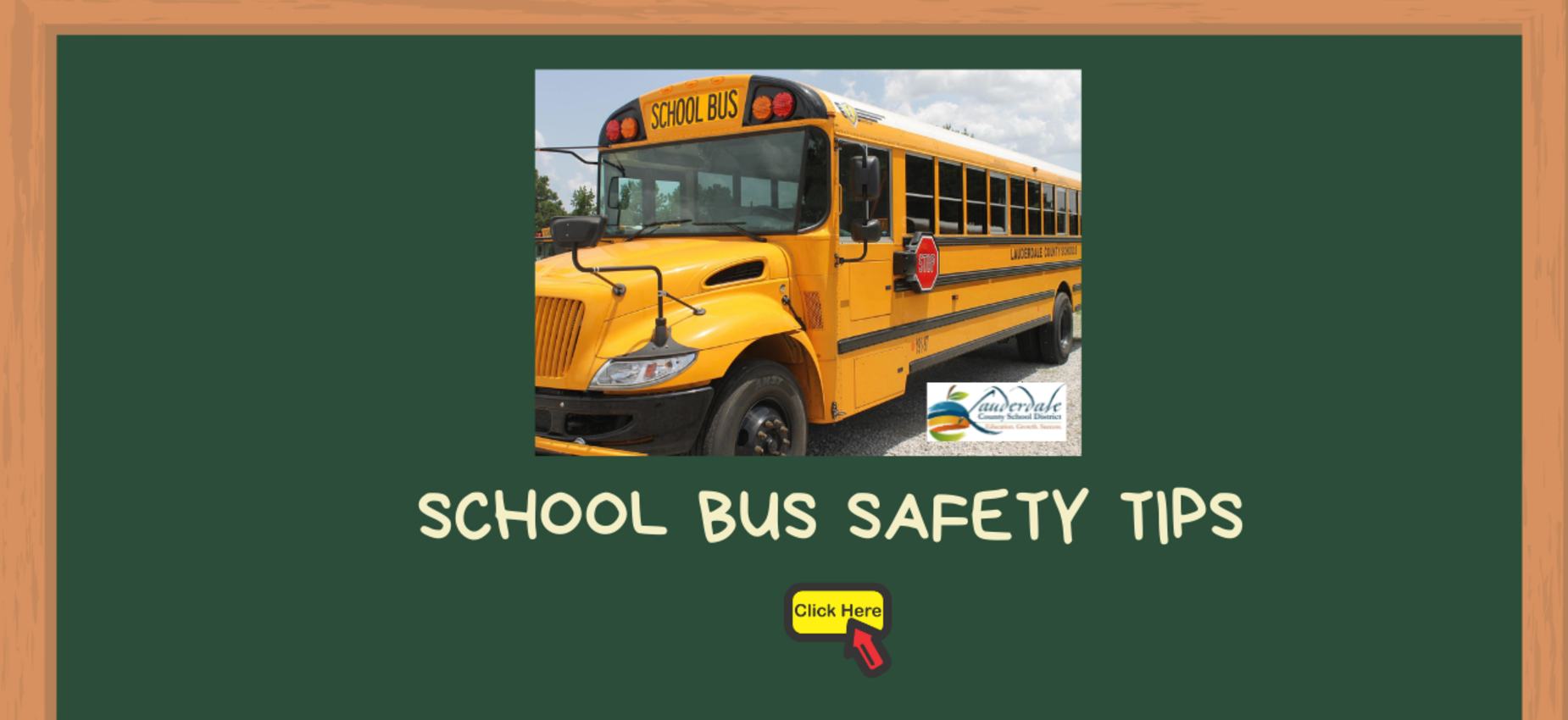 School Bus Safety Tips Graphic
