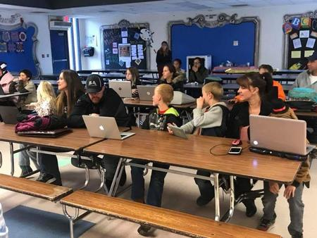 Parents and students ready to start coding