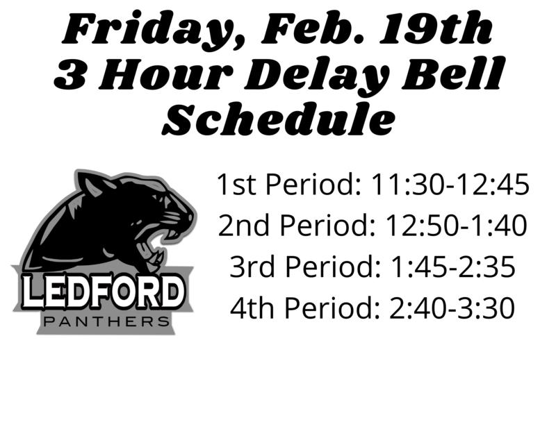 3 Hour Delay Bell Schedule