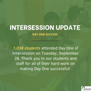 intersession day one numbers