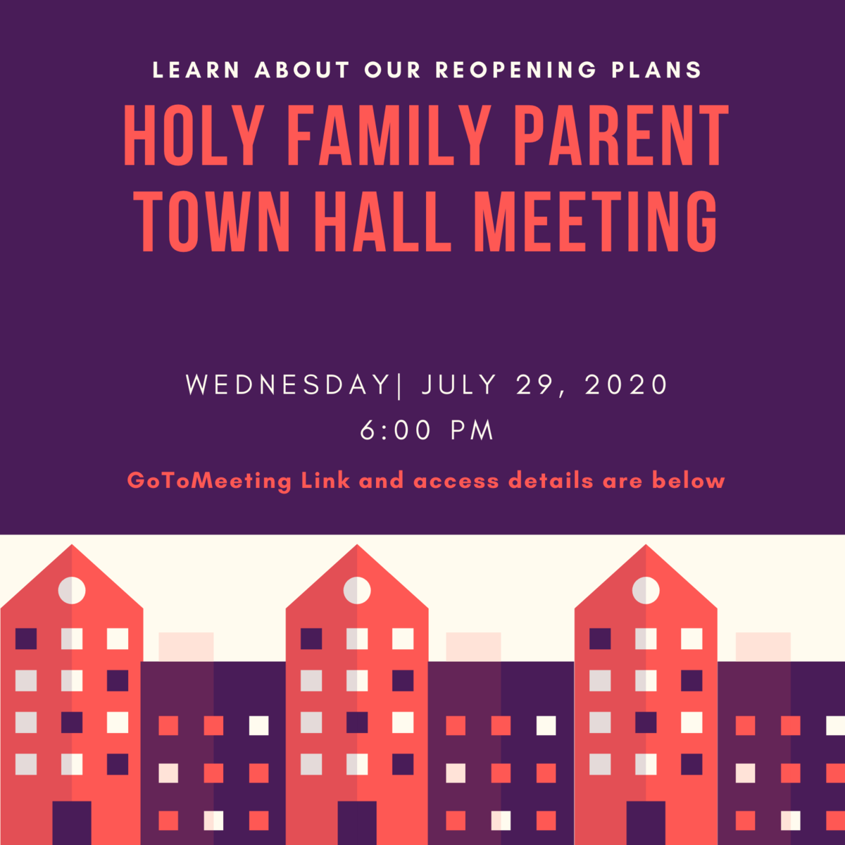 Parent Town Hall flyer poster
