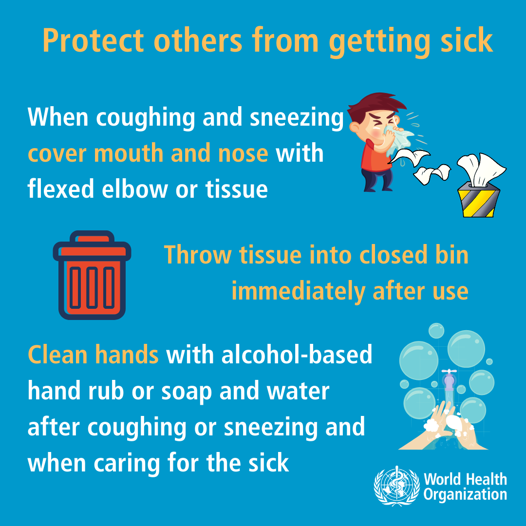 World Health Organization health safety tips