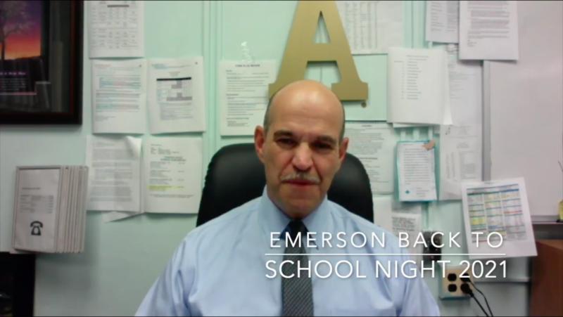 Principal Aleman speaking in video