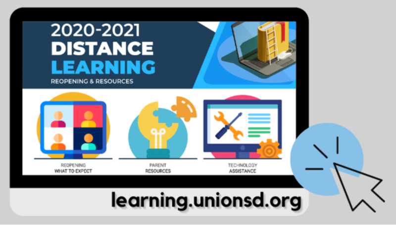 Distance Learning Union School district logo