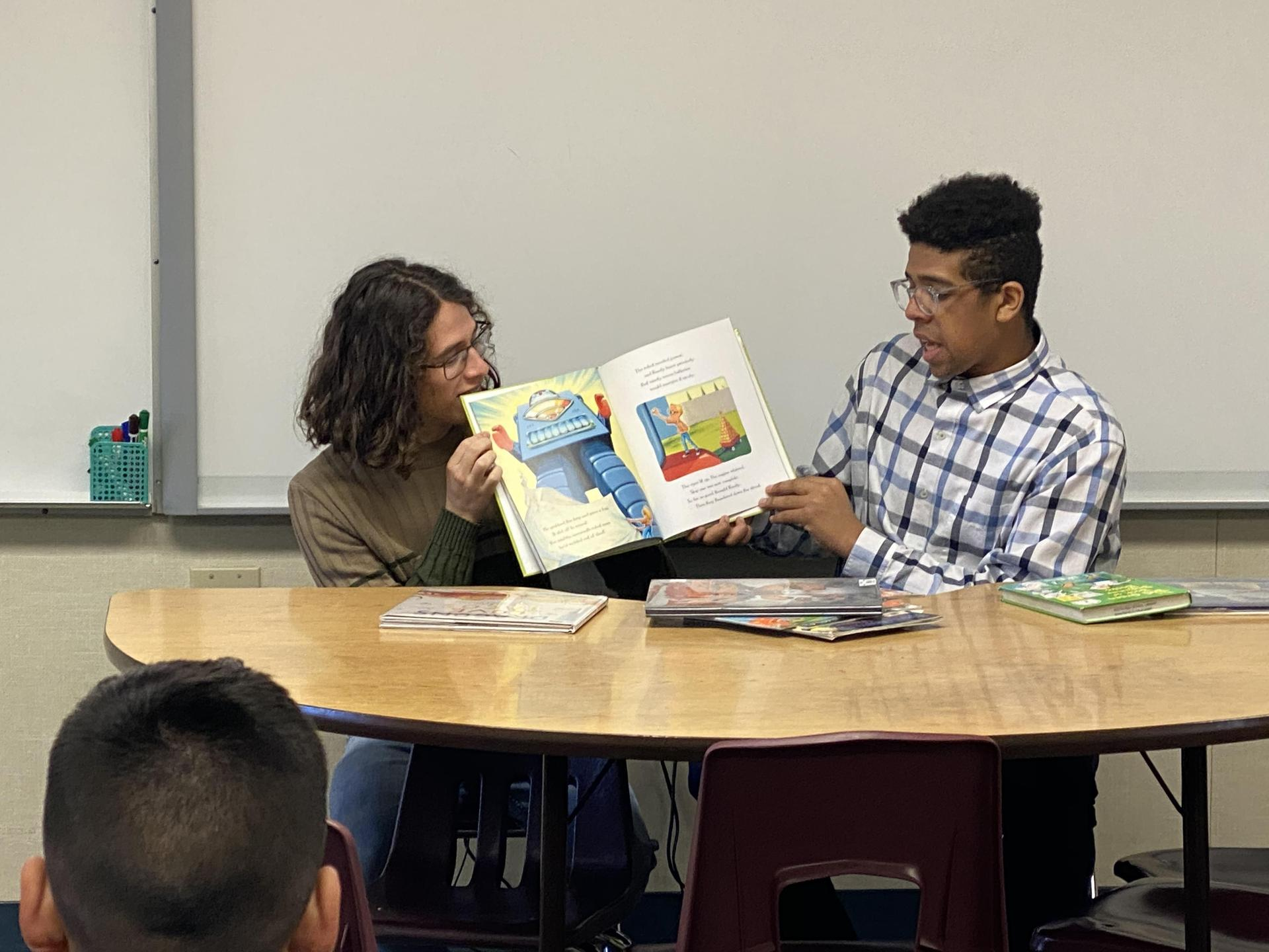 Read Across America  with Reader's Anonymous at Planz Elementary