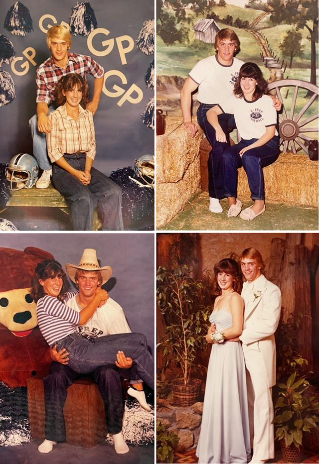 David and Margie (Murphy) Schmutz `82 in high school