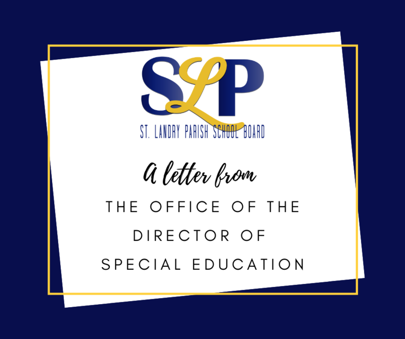 Letter from Director of Special Education