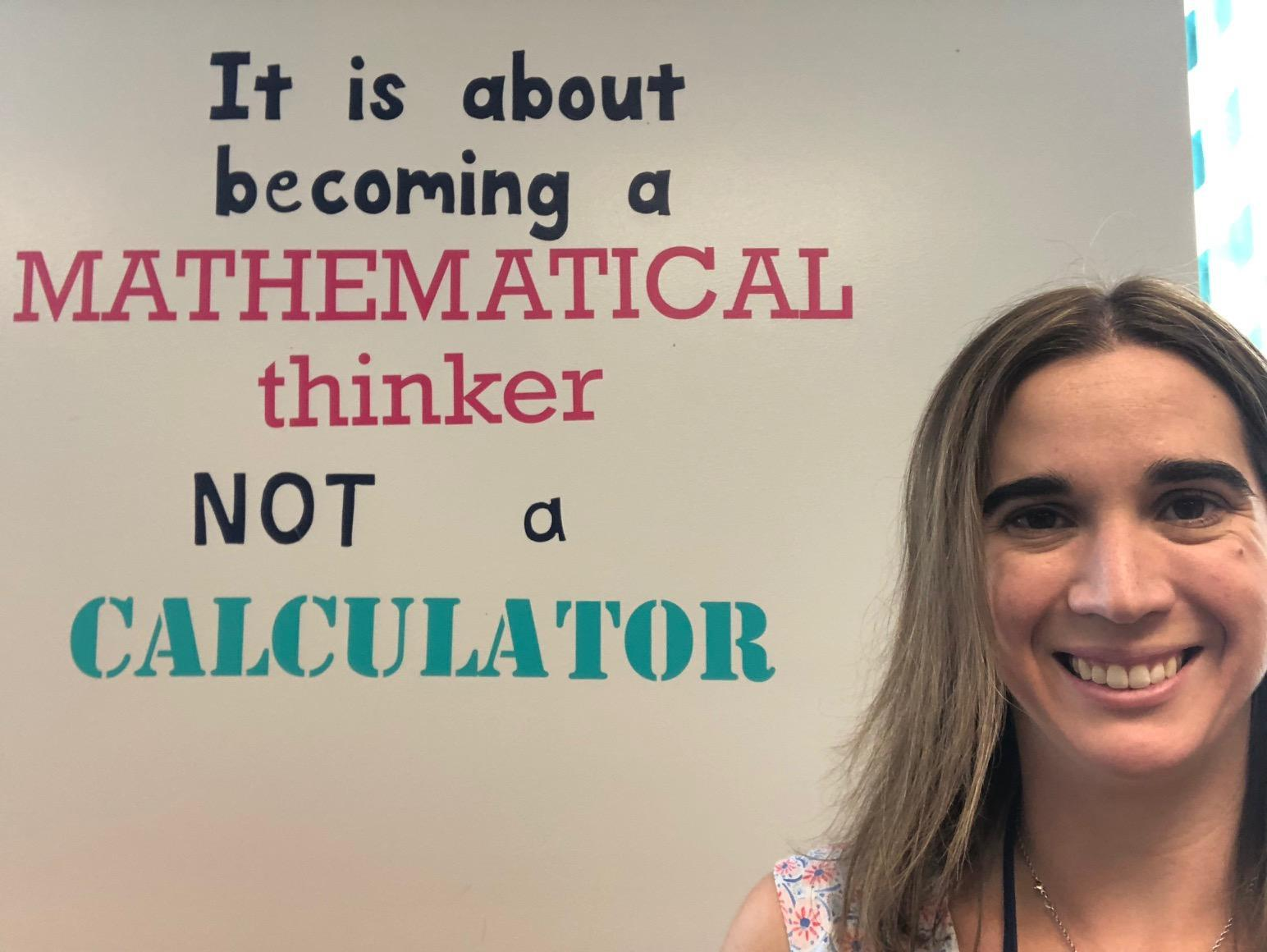 I want you to be a Mathematical Thinker!