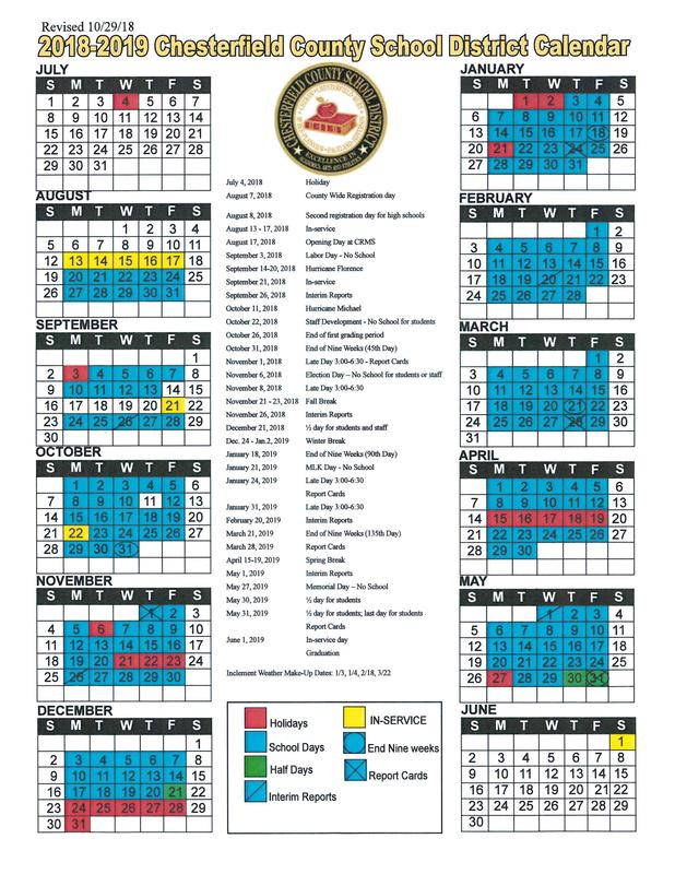 Revised District Calendar Featured Photo