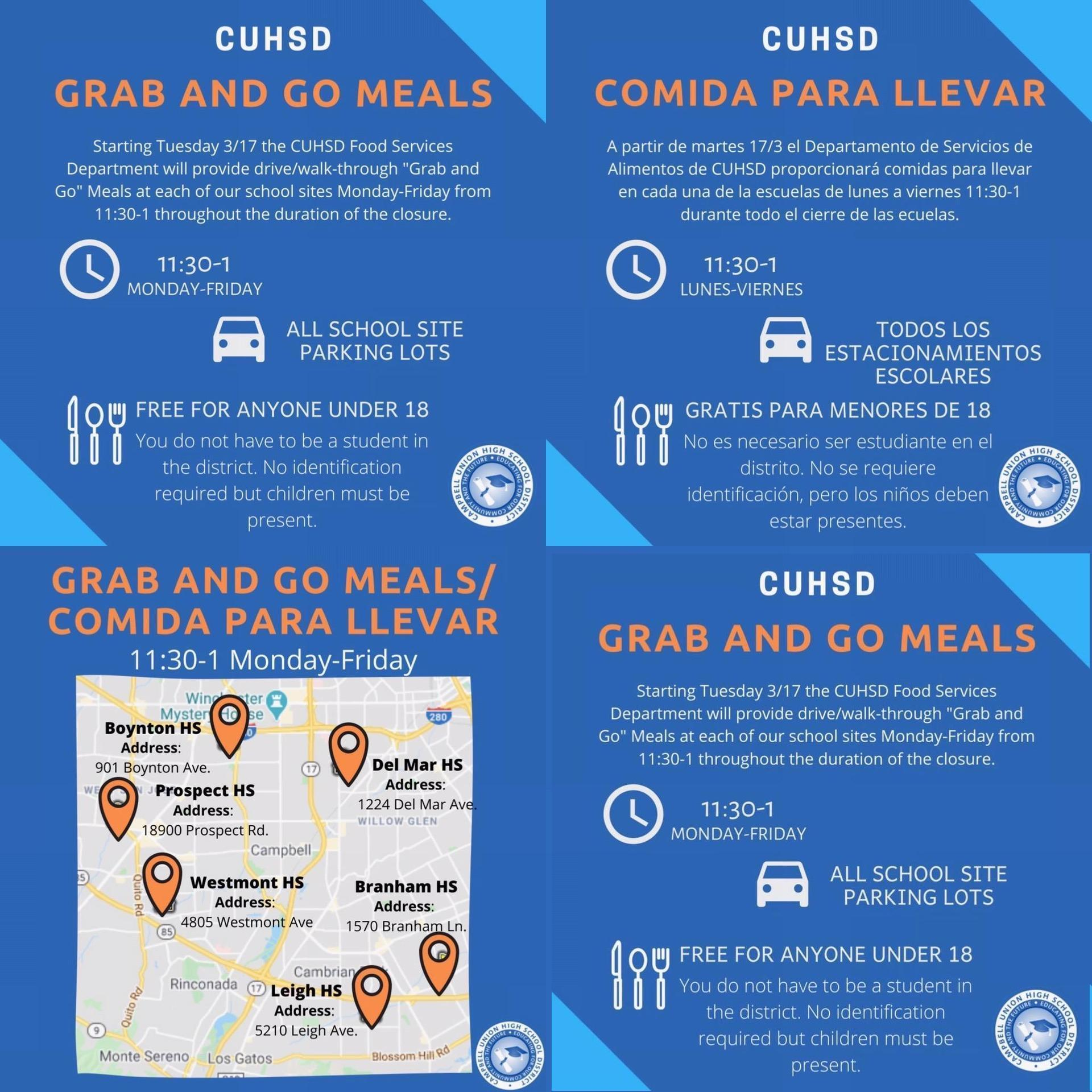 CUHSD Lunch Info