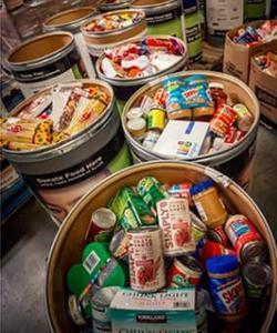 Second Harvest Food Bank Food Drive Barrel