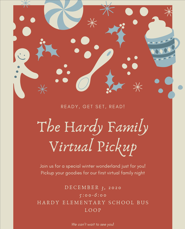 Virtual Family swag bag pick up from 5:00pm-6:00pm December 3rd