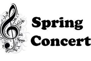 treble clef with spring concert