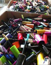 collected mascara wands