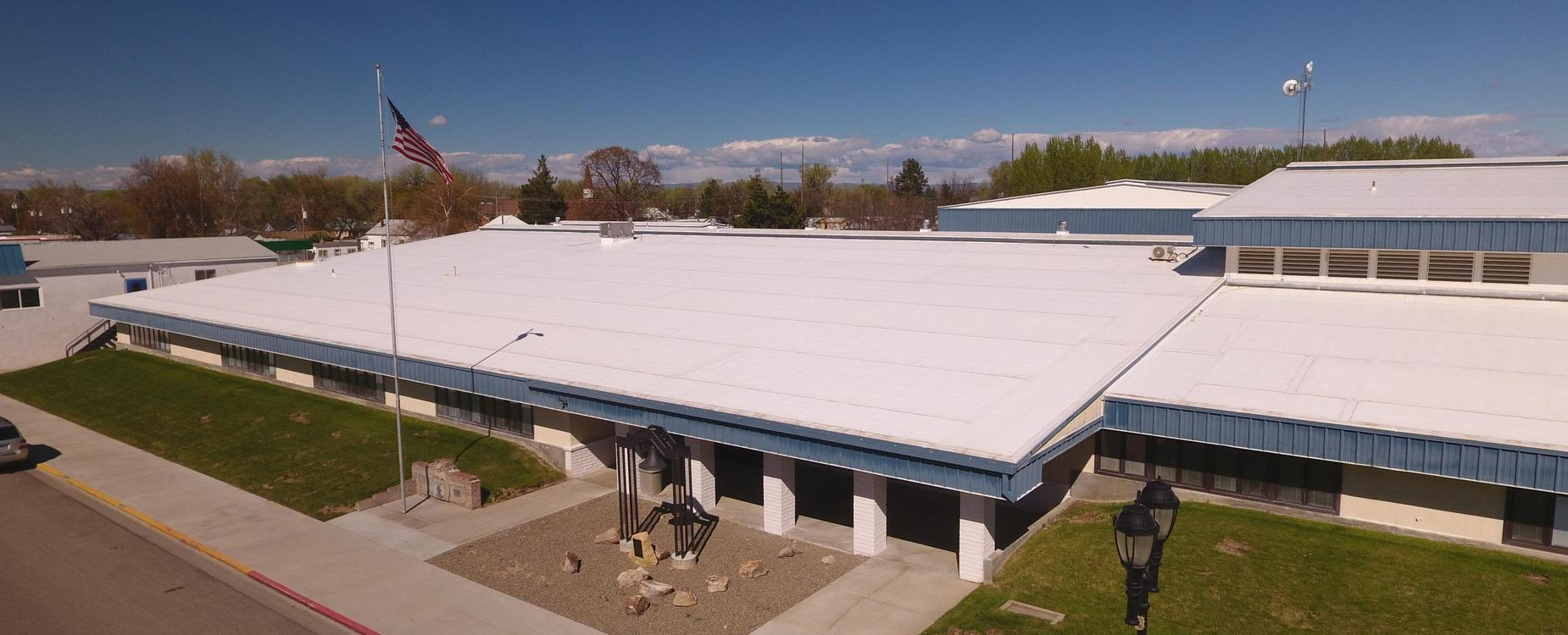 New Plymouth High School aerial view front