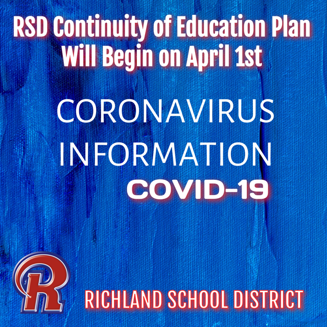 IMPORTANT UPDATE: RSD Continuity of Education plan to begin on Wednesday, April 1st Featured Photo