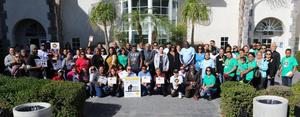 million father march group photo