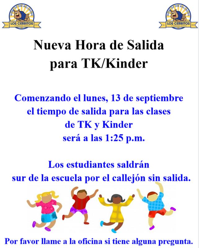 TK Kinder New DIsmissal Time Spanish.png