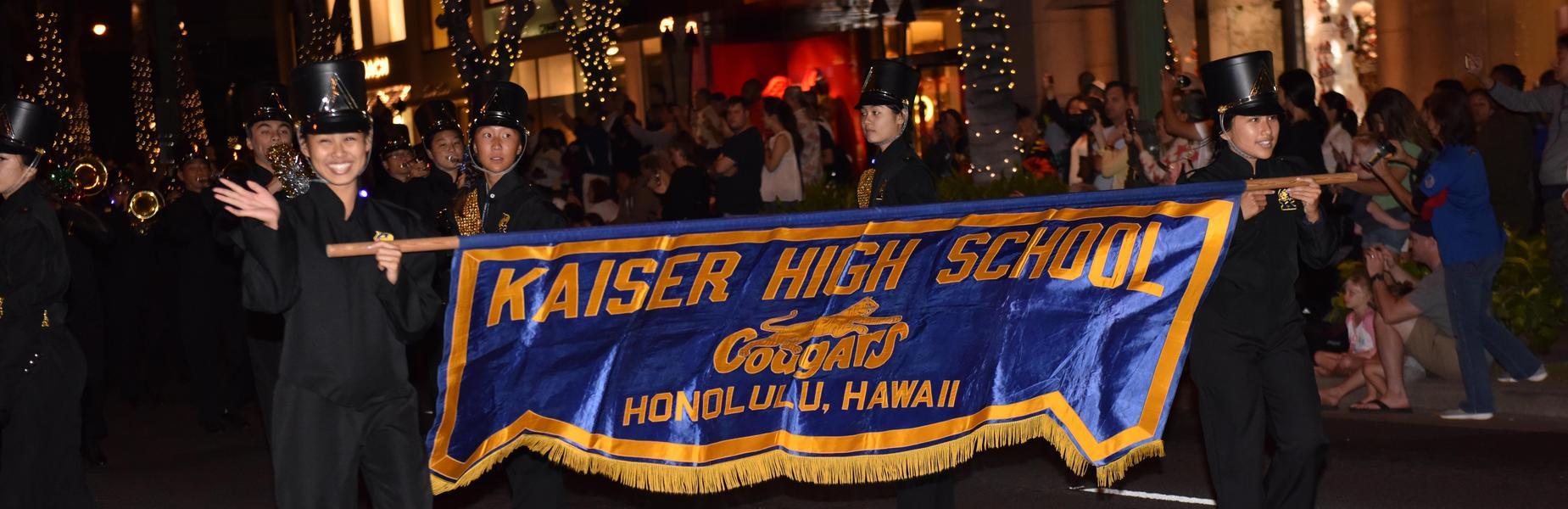 Kaiser band in holiday parade