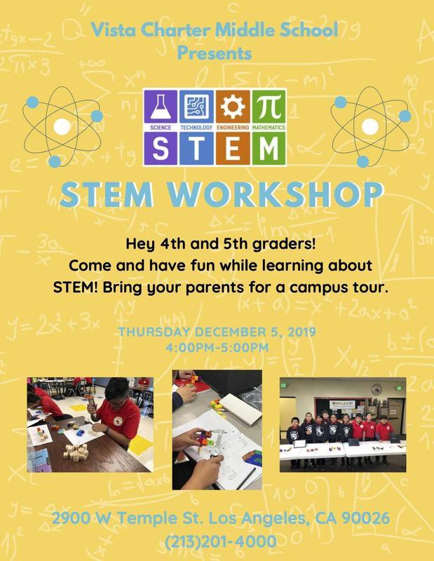 STEM workshop flyer