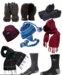 picture of gloves, hats, scarf and socks