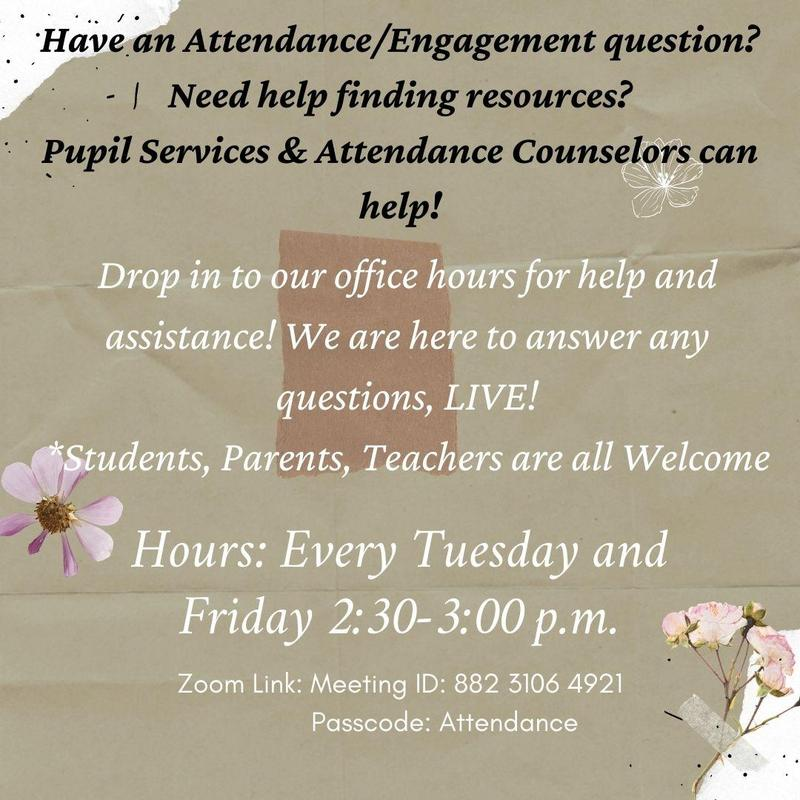 Attendance Office Zoom Hours Featured Photo