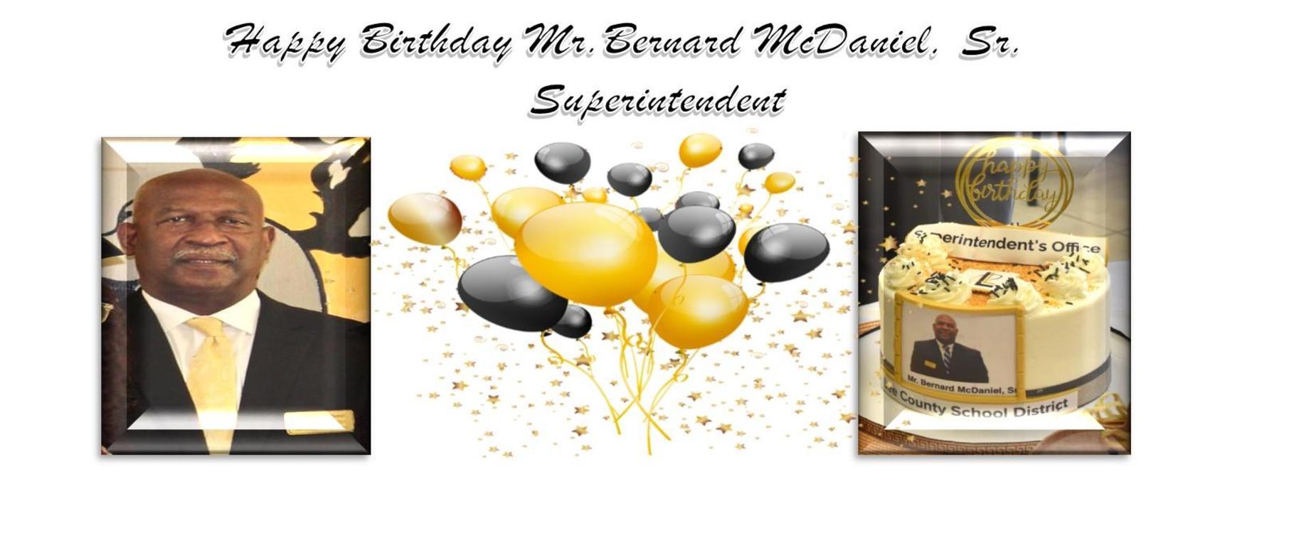 Happy Birthday Mr. McDaniel