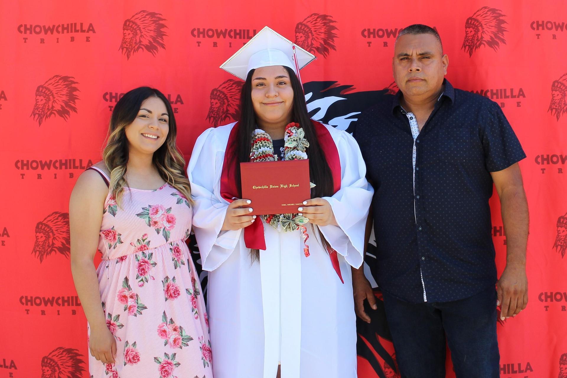 Sibel Sanchez and family