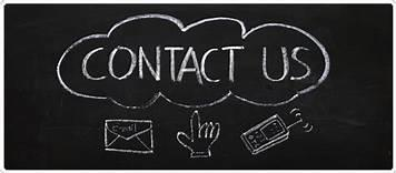 Contact Us Picture of Chalkboard