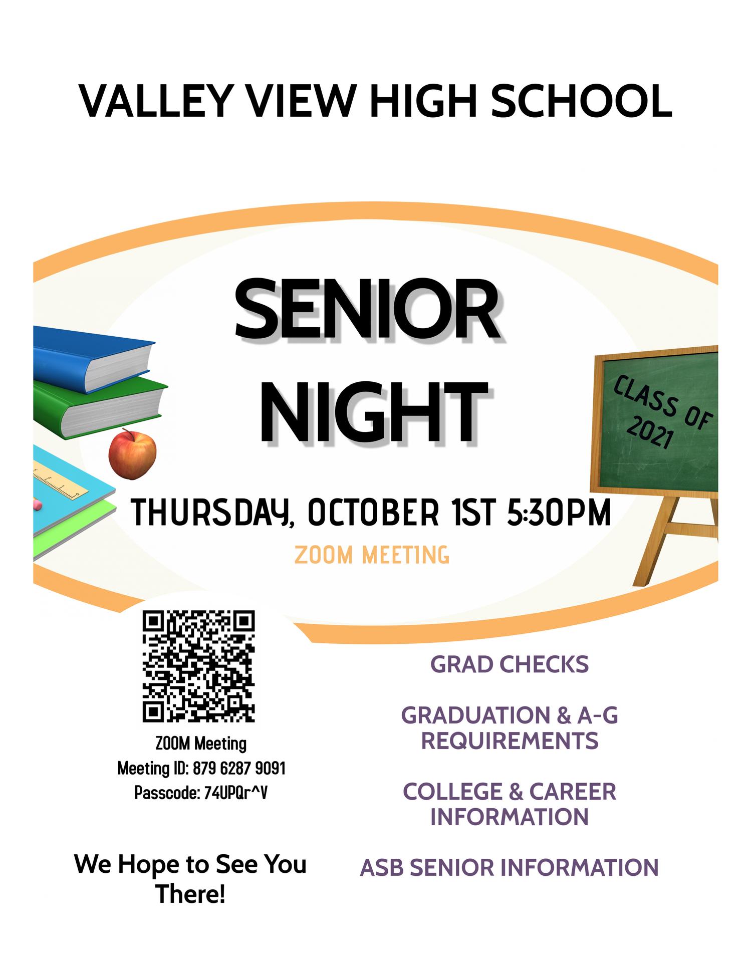 Senior Night Information