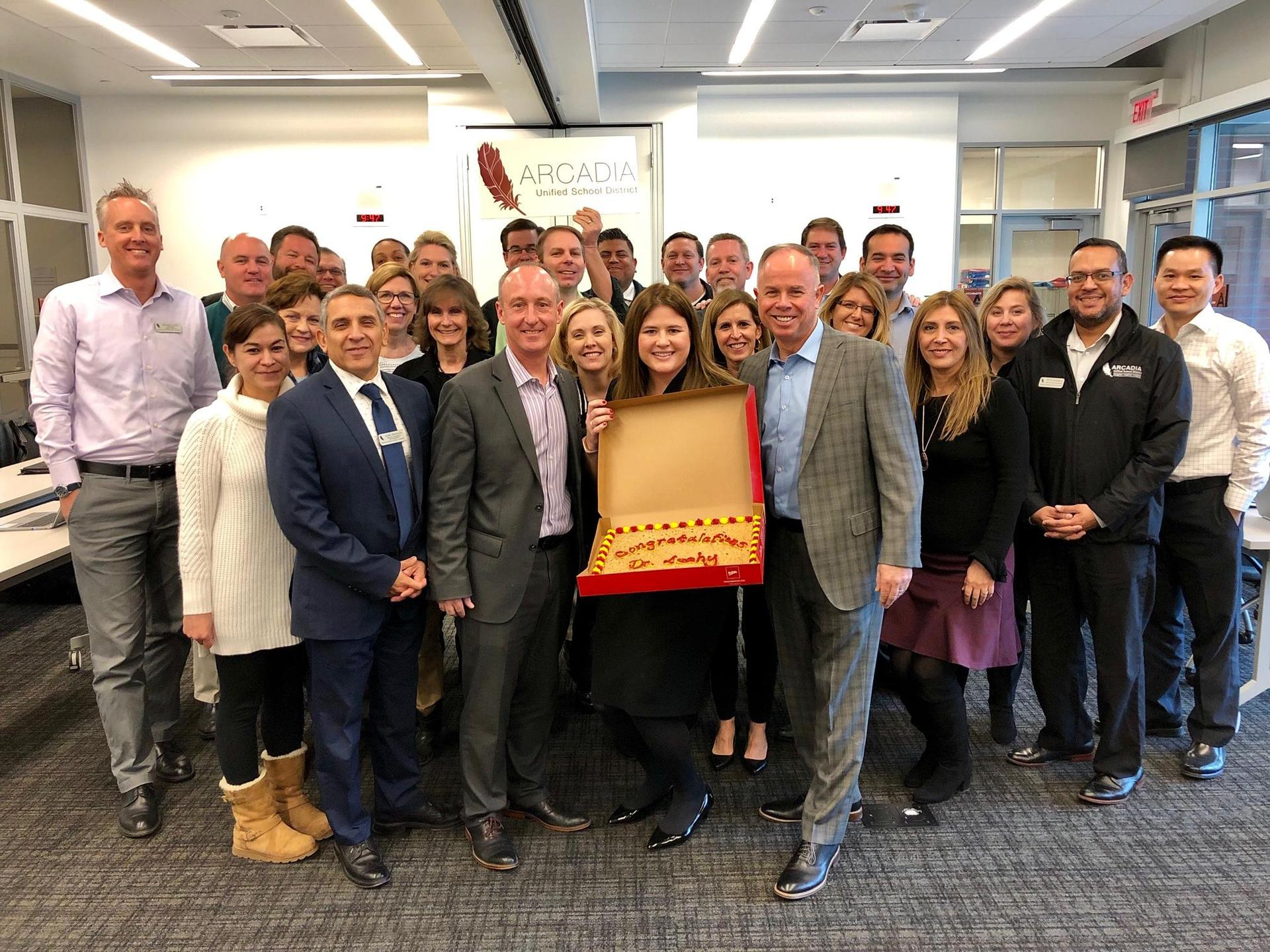 Principal Leahy and AUSD Administration Team