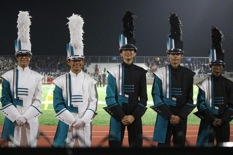 CSHS Band Students in New Uniforms