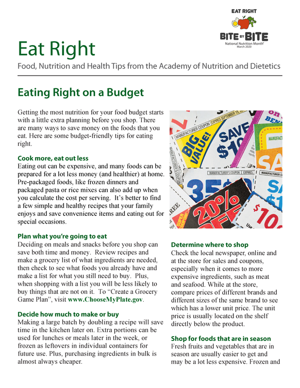 eat on a budget page 1