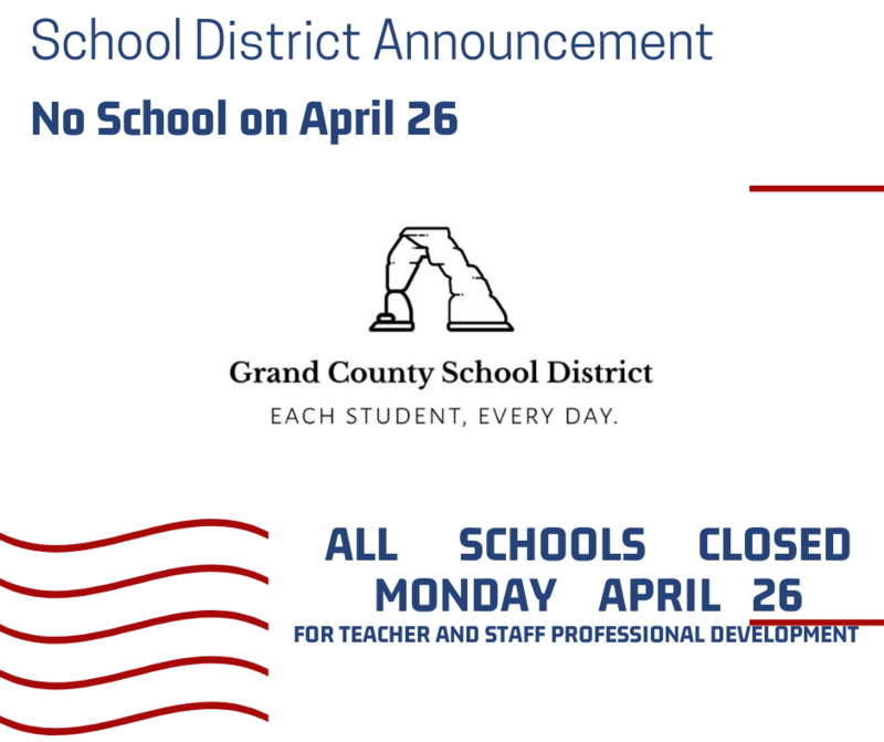 Mark your calendars! No School on April 26 Featured Photo